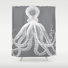 octopus grey and white