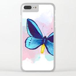 Blueberry Breeze Splash Clear iPhone Case
