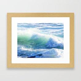 Laguna Winter Waves Framed Art Print