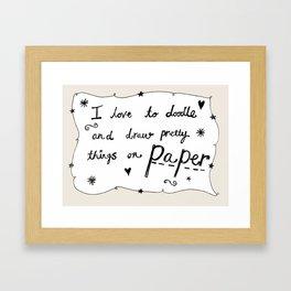 Love to Doodle Framed Art Print
