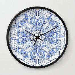 Feline Flower Wall Clock