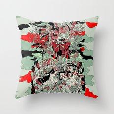 UNINVITED GARDEN Throw Pillow
