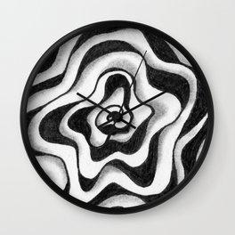 Doodled Rose & Vine Wall Clock