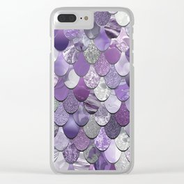 Mermaid Purple and Silver Clear iPhone Case