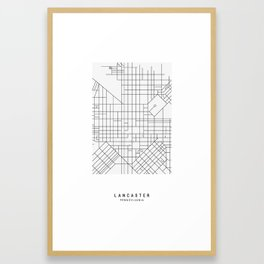 Lancaster, PA Simple Map Framed Art Print