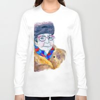soviet Long Sleeve T-shirts featuring Soviet babushka by Miurita
