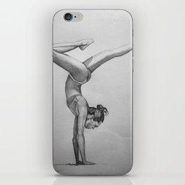 yoga pose iPhone Skin