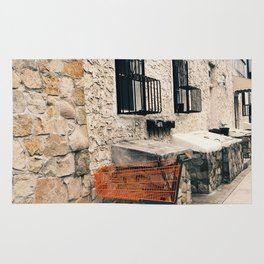 orange cart, alone Rug