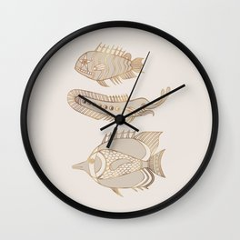 Fantastical Fish 1 - Natural Wall Clock