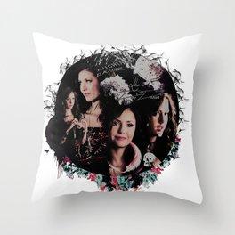 Nina Dobrev  Throw Pillow