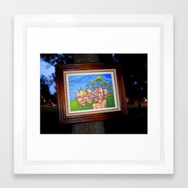 Trees Taking Root in the Human Head  Framed Art Print