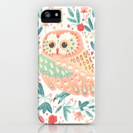 Little Pink Owl iPhone Case
