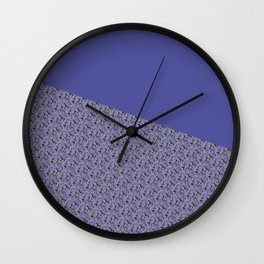 Purple Daisy pattern Wall Clock
