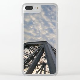 Silver Span Clear iPhone Case