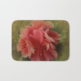 Pink Geranium at Barthel's Farm Market Bath Mat