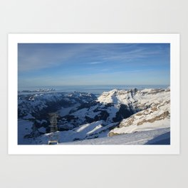 SWISS ALPS ABOVE THE CLOUDS Art Print