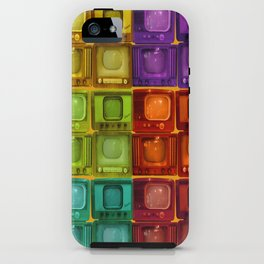 Coulored Televisions iPhone Case