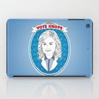 leslie knope iPad Cases featuring Vote Knope by geeksweetie