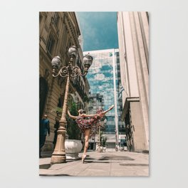 Photography «Dancer on the street» Canvas Print