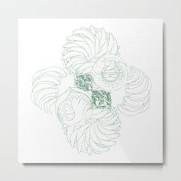 A Kelp Swirl's Metal Print