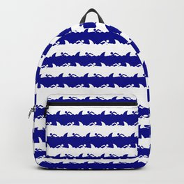 Bondi Beach Blue and White Shark Attack Beach Stripe Backpack
