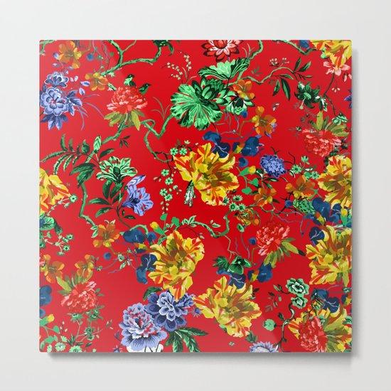 Seamless Botanical Pattern Metal Print