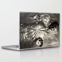 han solo Laptop & iPad Skins featuring Han Solo carbonite by Ferdinand Bardamu