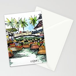 Floating Market, Rajburi, Thailand Stationery Cards