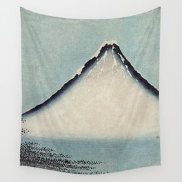 Hokusai, the blue fuji- hokusai,manga,japan,fuji, blue fuji,Shinto Wall Tapestry
