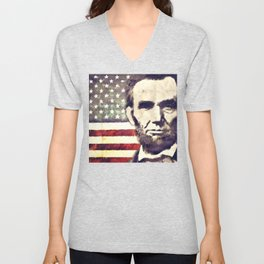 Patriot President Abraham Lincoln Unisex V-Neck