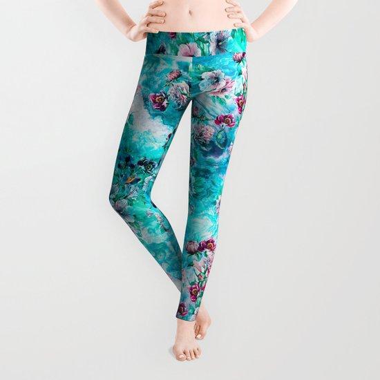 Floral Ocean II Leggings