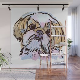 The Shih Tzu always keeps me smiling! Wall Mural
