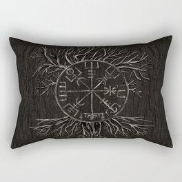 Vegvisir and Tree of life Yggdrasil Rectangular Pillow