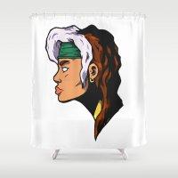 xmen Shower Curtains featuring x5 by jason st paul