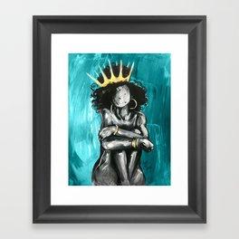 Naturally Queen IX TEAL Framed Art Print