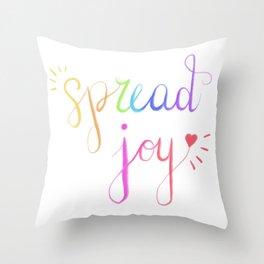 Spread Joy Throw Pillow