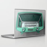 radio Laptop & iPad Skins featuring VINTAGE radio by 2sweet4words Designs