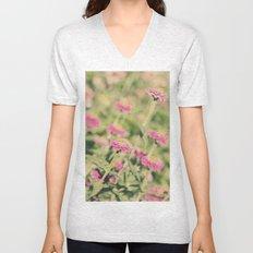 Pink flowers Unisex V-Neck