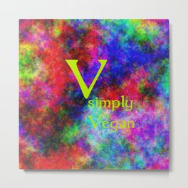 simply Vegan (A7 B0146) Metal Print
