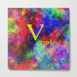 simply Vegan (A7 B0146) Metal Print