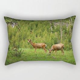 Wapiti In Yellowstone N P Rectangular Pillow