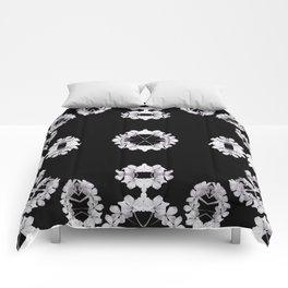 Gray Wildflowers frame Comforters
