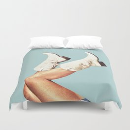 These Boots - Blue Duvet Cover