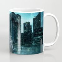 super heroes Mugs featuring Heroes by Nessendyl