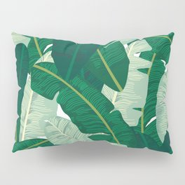 Classic Banana Leaves in Palm Springs Green Pillow Sham