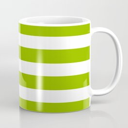 Spring Fresh Apple Green & White Stripes - Mix & Match with Simplicity of Life Coffee Mug