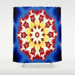 Robot Bird Mandala Shower Curtain