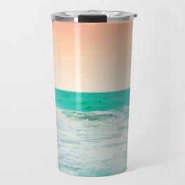 Aqua and Coral, 3 Travel Mug