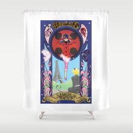 Miraculous Ladybug Nouveau Shower Curtain