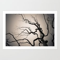 Chrome Tree Art Print